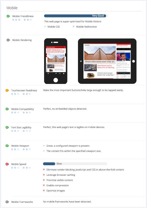 Woorank Demo - mobile friendly check