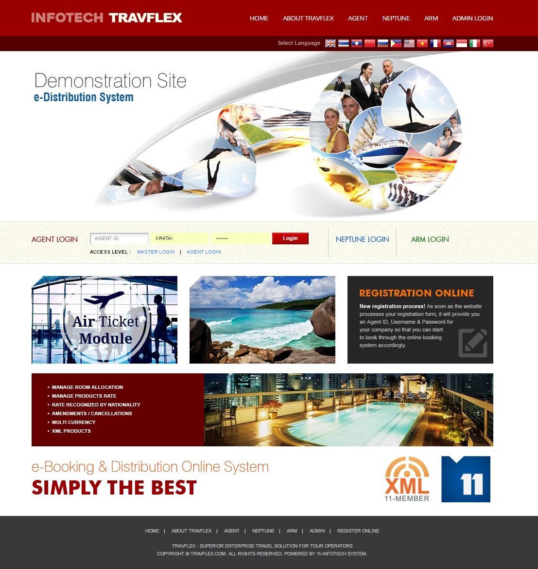TRAVFLEX Demo - INFOTECH TRAVFLEX LOGIN PAGE