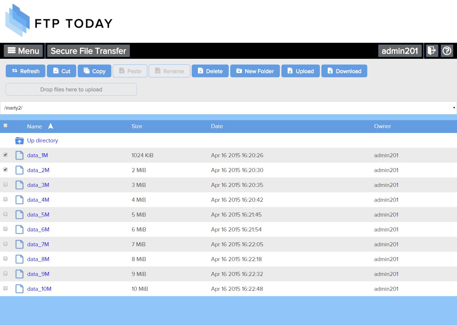 FTP Today Demo - webapp.png