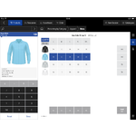 aWorkbook Demo - Order quantities selection screen
