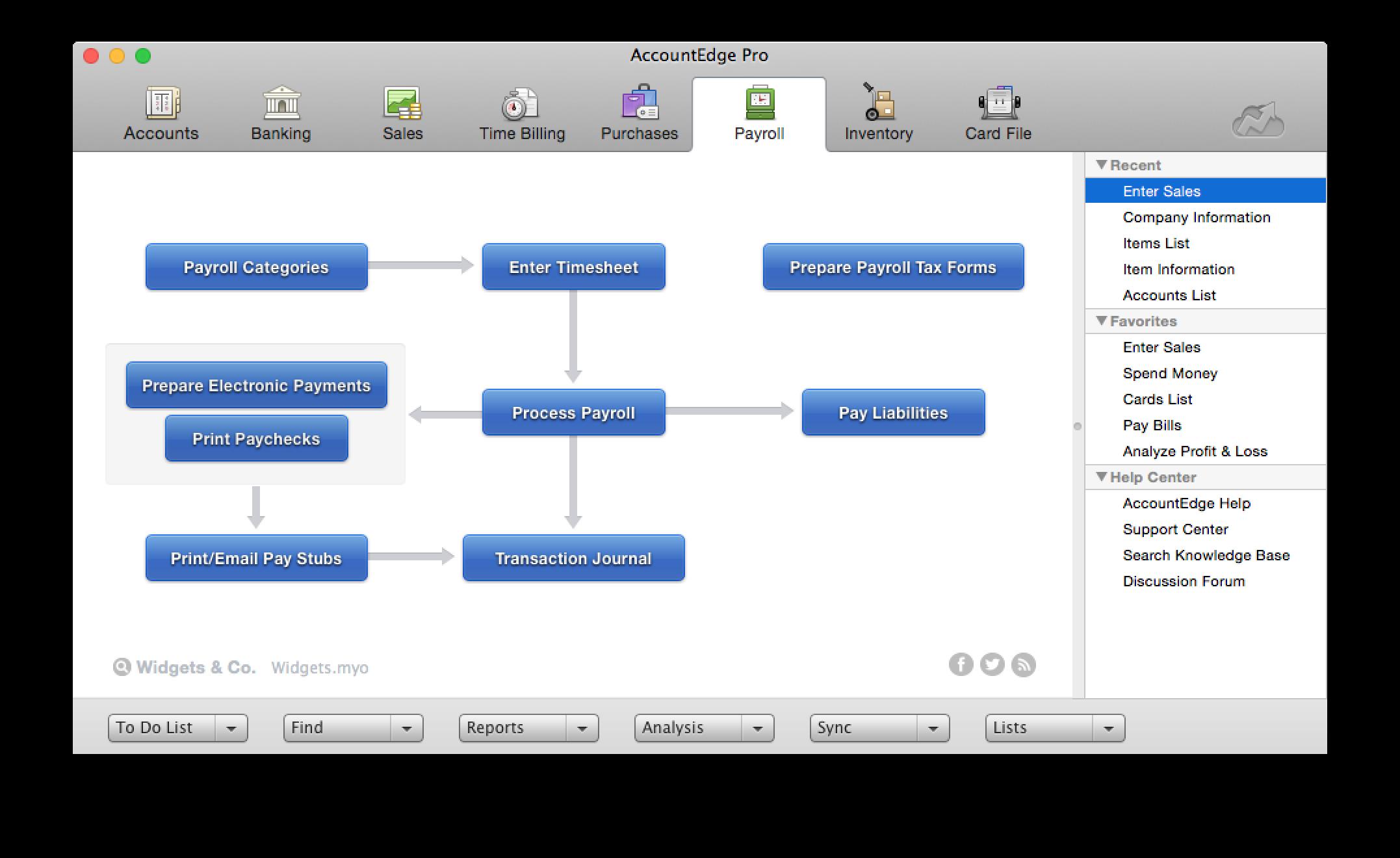 AccountEdge Pro Demo - AccountEdge Payroll