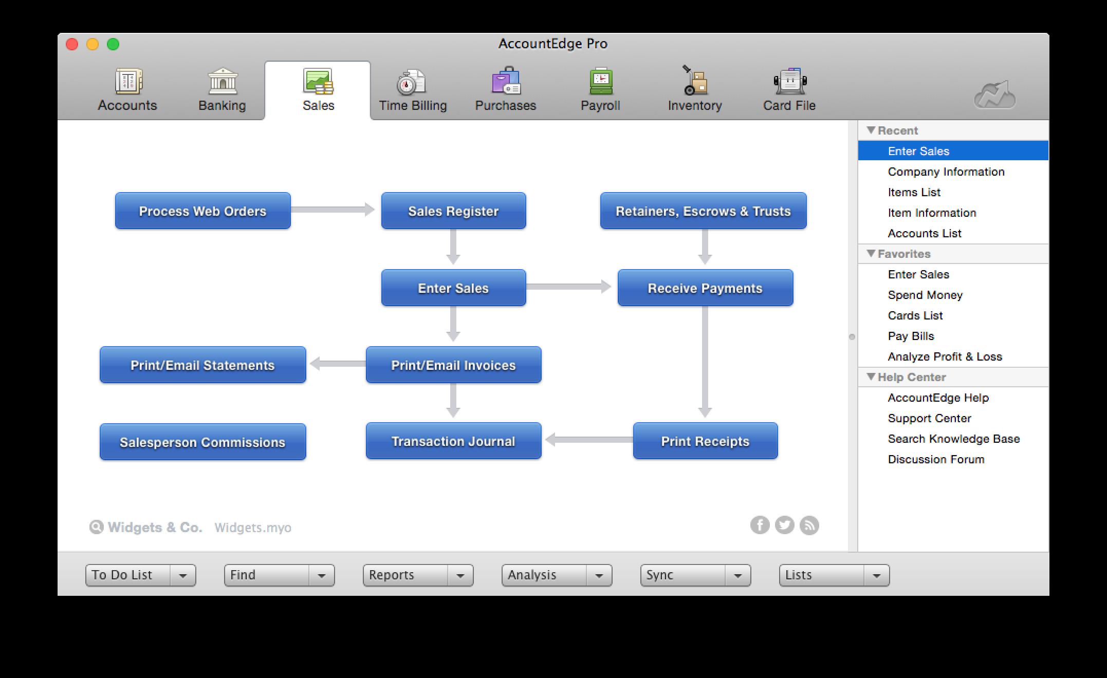 AccountEdge Pro Demo - AccountEdge Sales