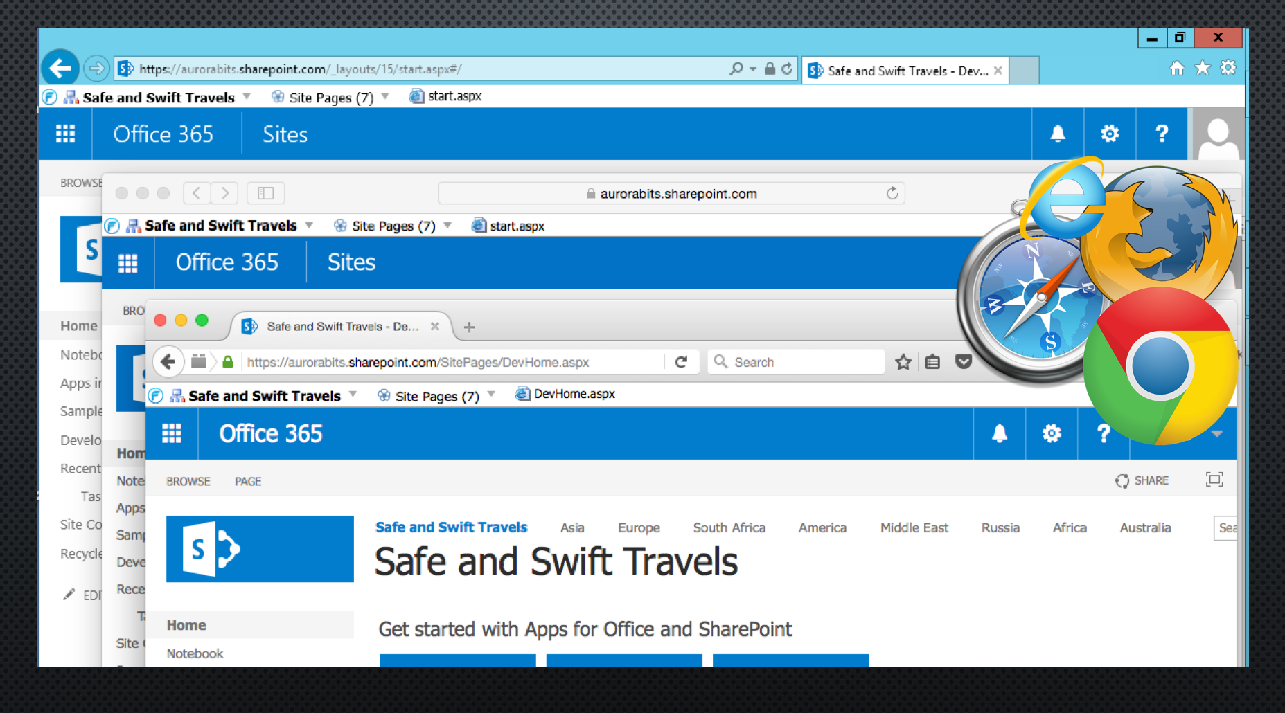 FlyView For SharePoint Demo - FlyView for Internet Explorer
