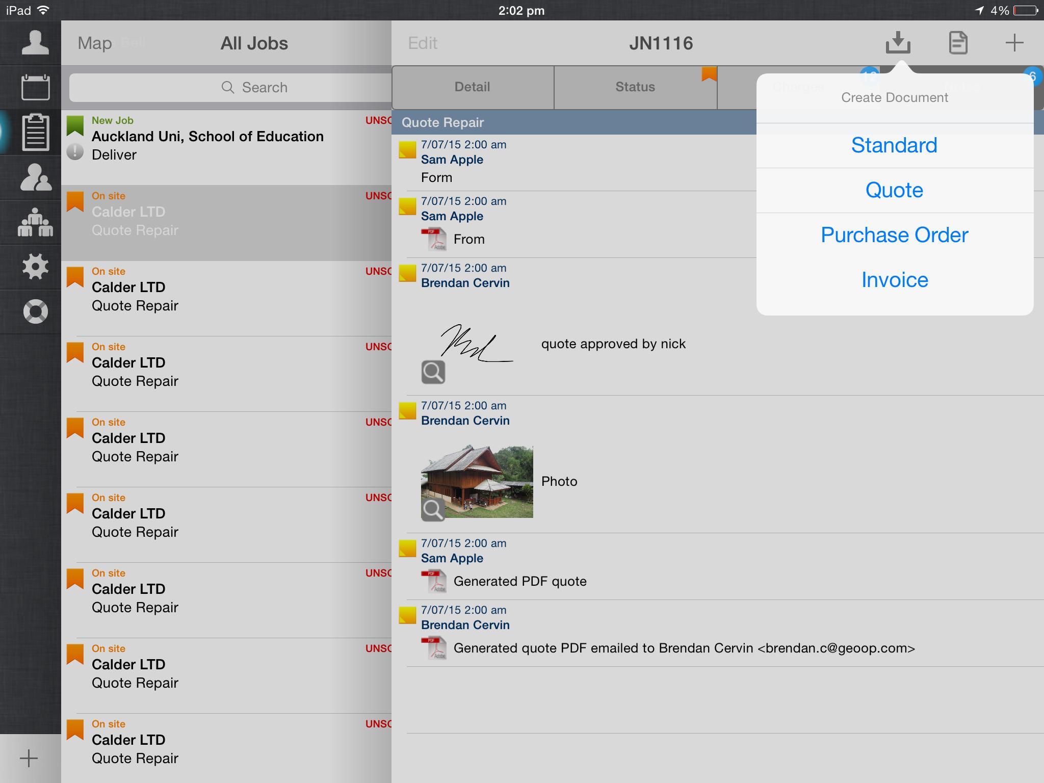 GeoOp Demo - iPad