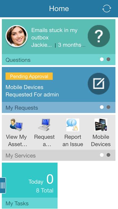CA Service Management Demo - Mobile Self-service