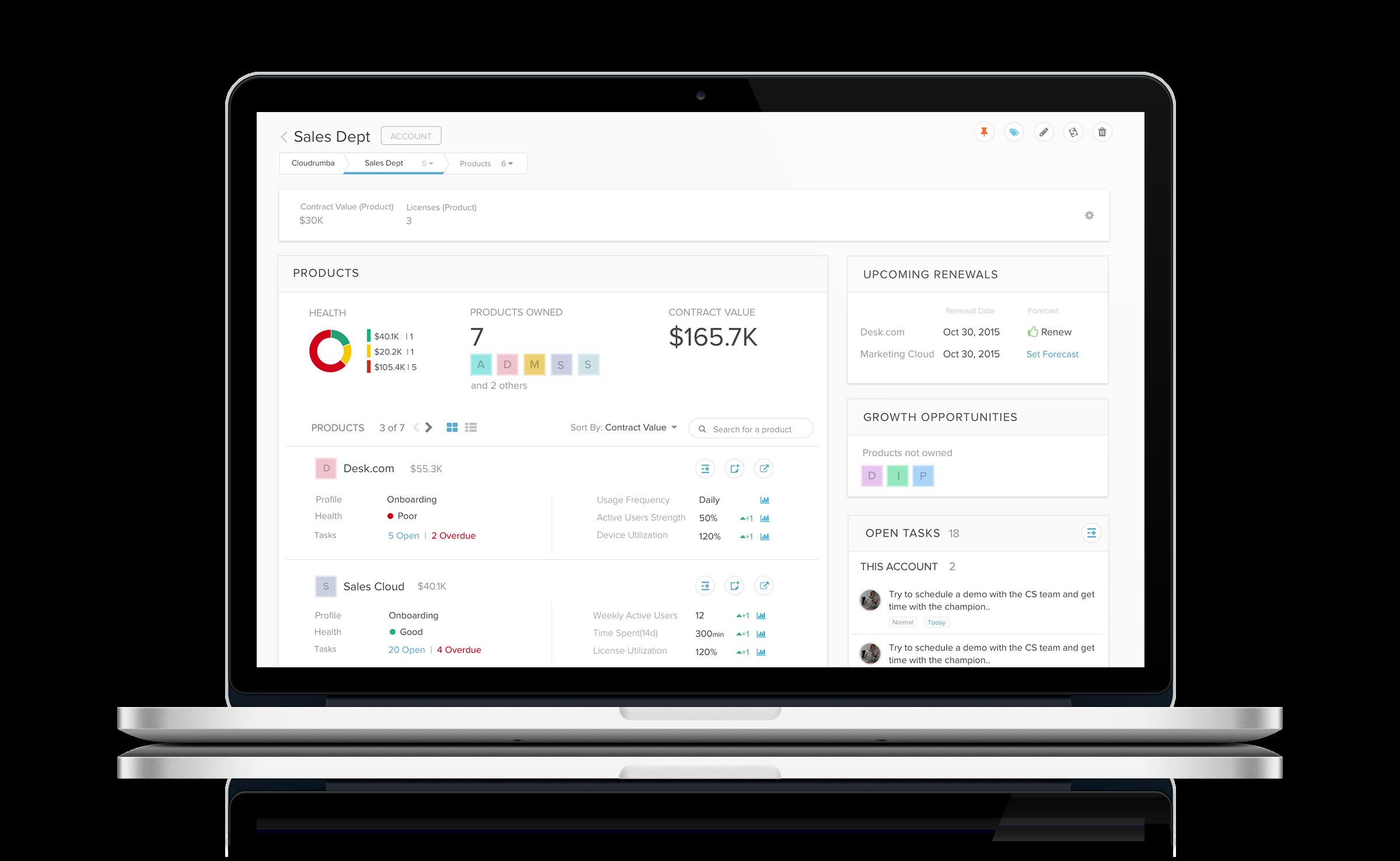 Totango Demo - Context Based Customer Profile Views