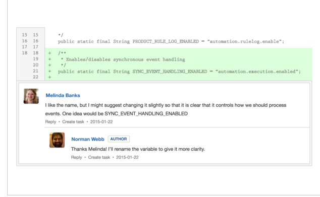 Bitbucket Demo - Inline Discussions