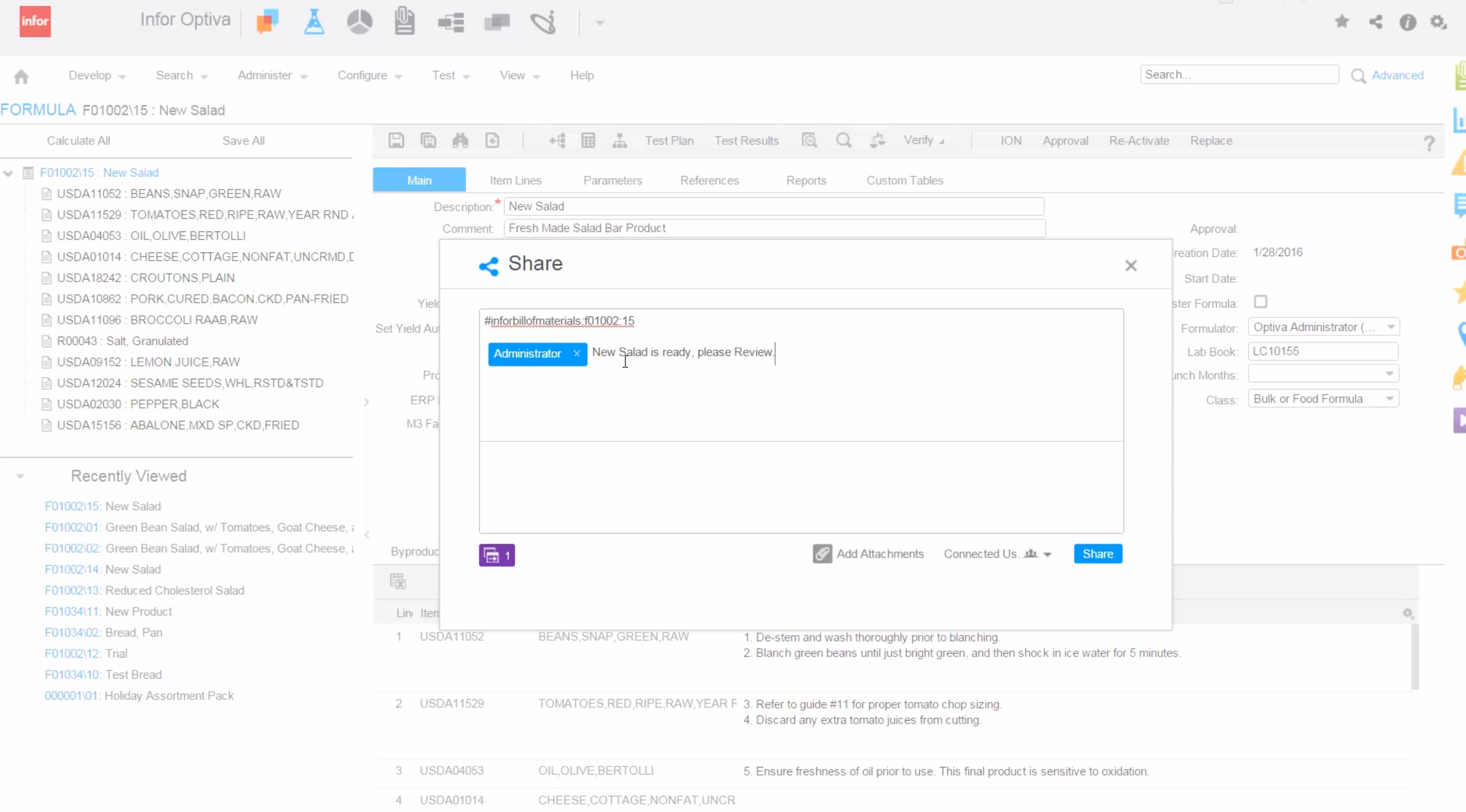 Infor Optiva Demo - Update your management of new ideas in real time on current projects
