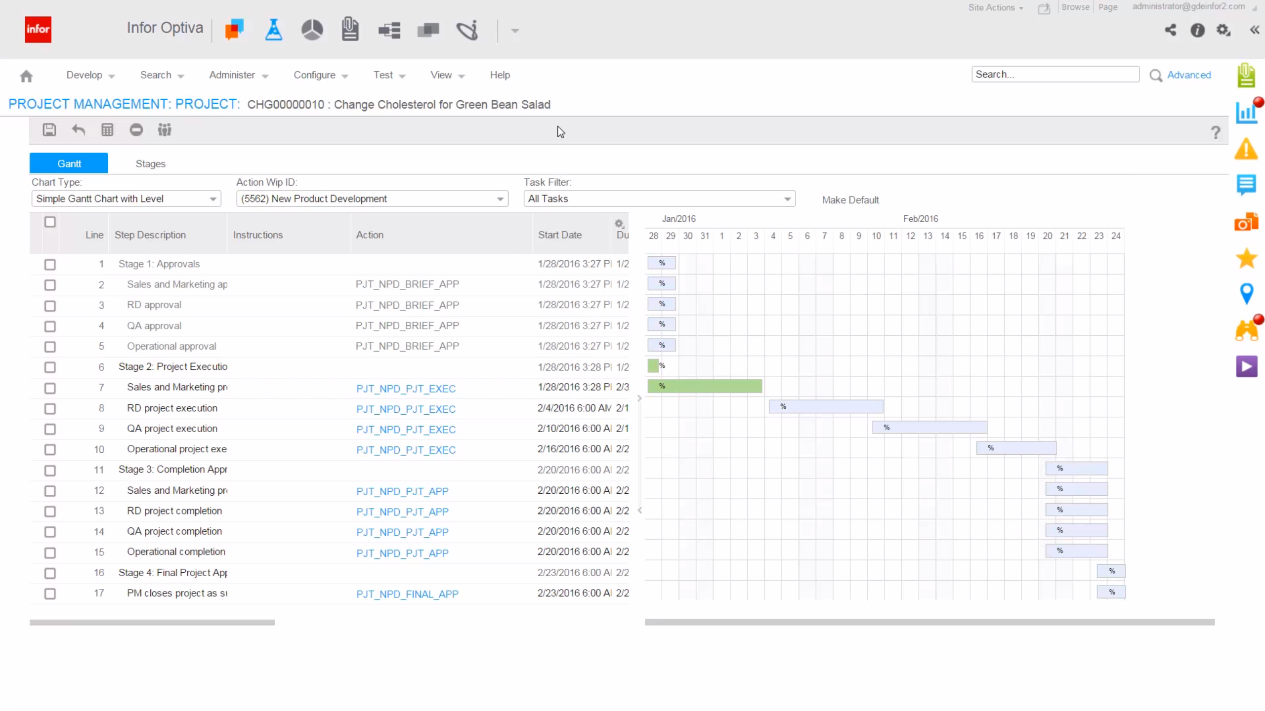 Infor Optiva Demo - Create Specific Workflows for each product