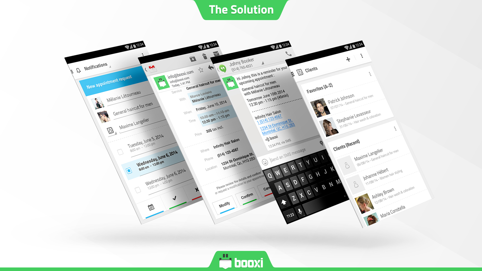 booxi Demo - Automate Email Confirmation and SMS Reminders