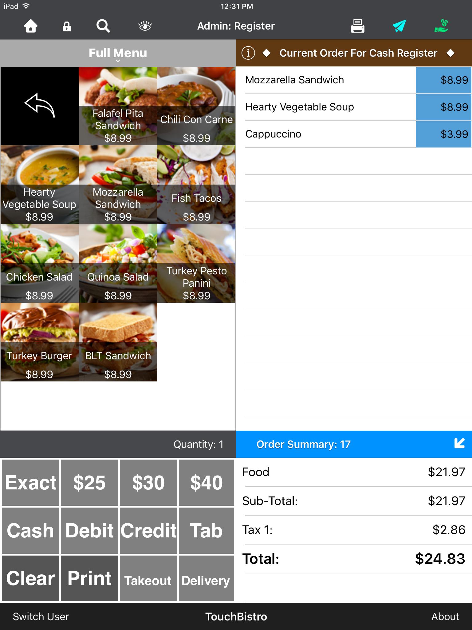 TouchBistro Restaurant POS Demo - Payment