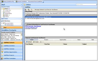 GoldMine Demo - Microsoft Outlook Integration