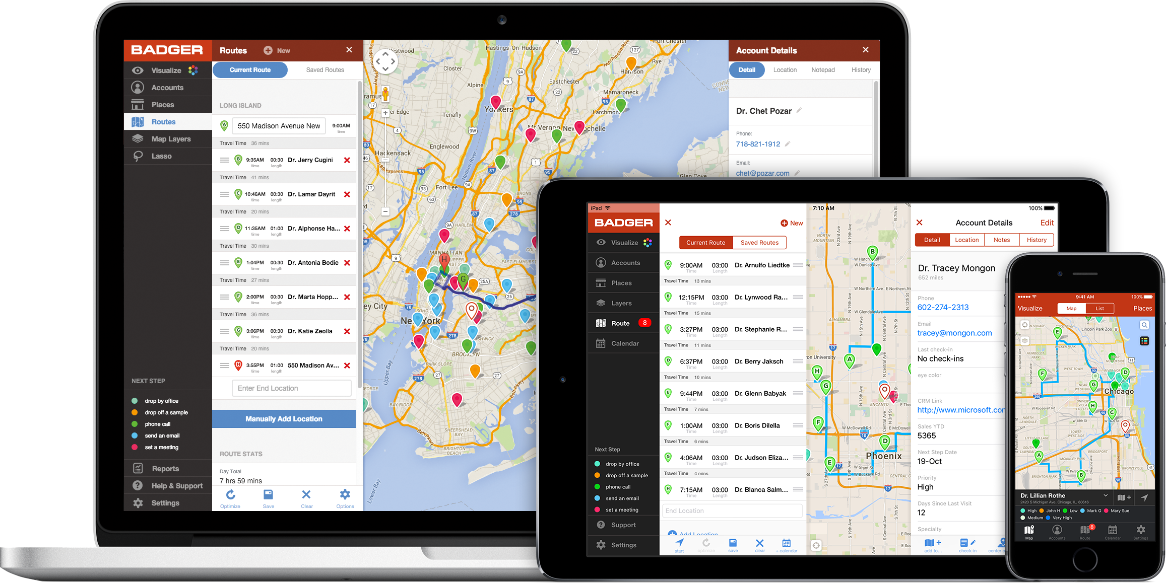 Badger Maps Demo - Badger works on your computer, your tablet, and your phone