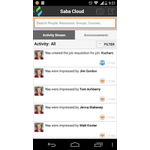 Saba Cloud Mobile Apps Screenshot