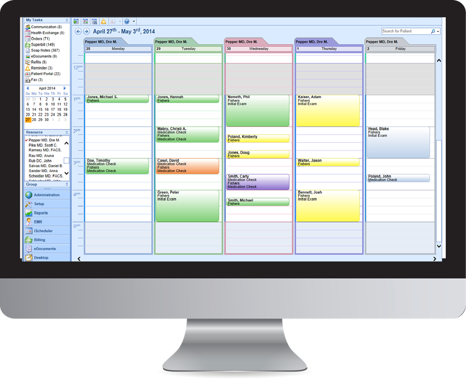 iSALUS EHR Demo - Scheduling and Practice Workflow