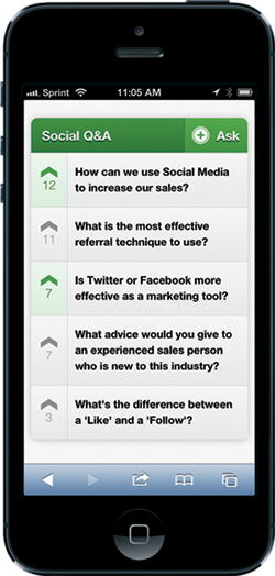 Conferences i/o Demo - Social Q&A Feature