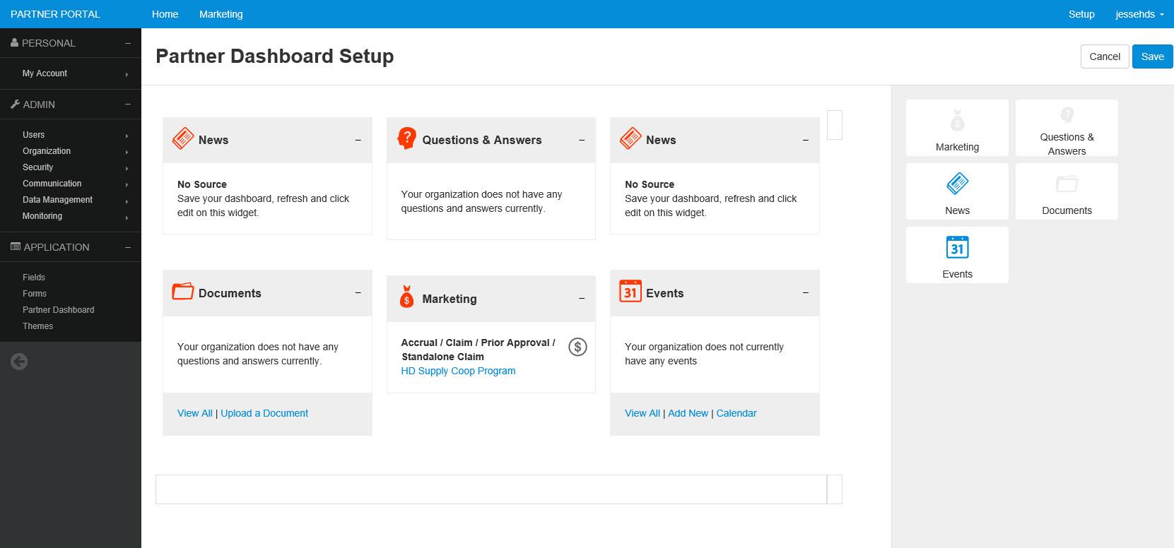 PartnerPortal Demo - PartnerPortal Dashboard Setup