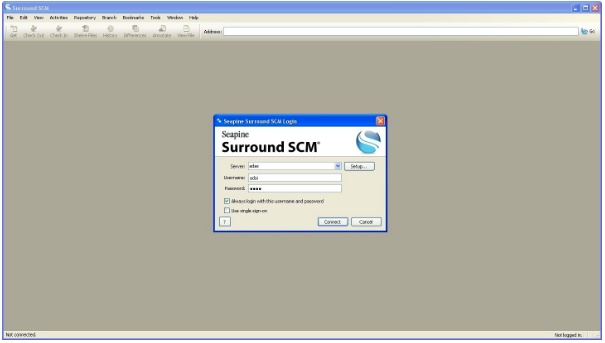Surround SCM Demo - Surround SCM Login