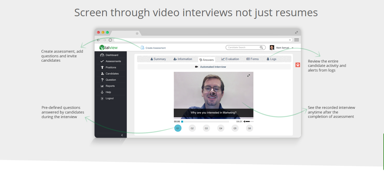 Talview Demo - Automated Video Interview