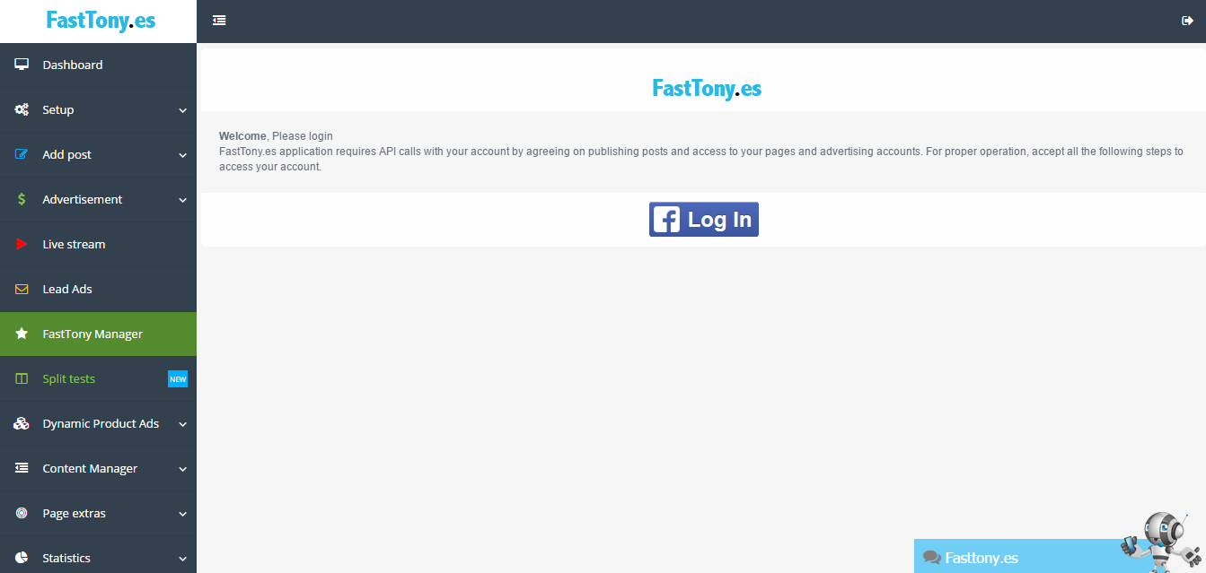 FastTony.es Demo - FastTony.es Dashboard