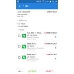 Nexonia Expenses Mobile Apps Screenshot