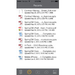 SpringCM Contract Management Mobile Apps Screenshot