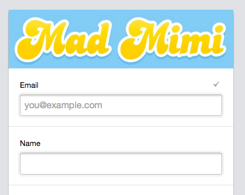 Mad Mimi Demo - Simple Webforms