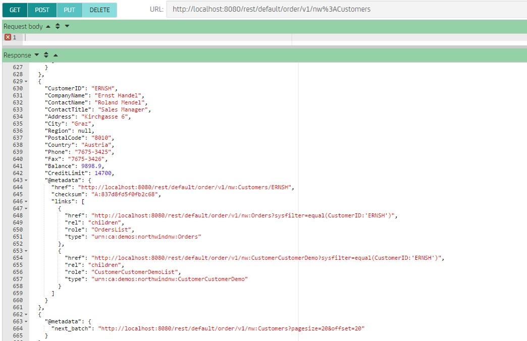 CA Live API Creator Demo - CA Live API Creator Instantly creates Enterprise-class REST APIs from your data