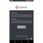 Centrify Application Services Mobile Apps Screenshot