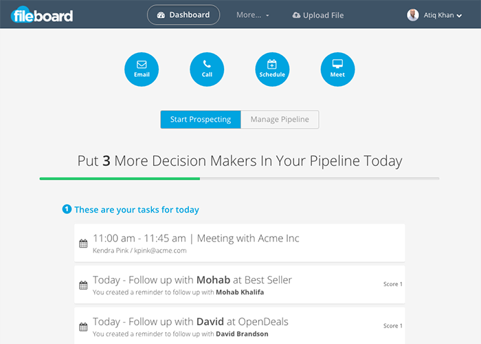 Fileboard Demo - All the tools you need to be successful in sales in an integrated platform