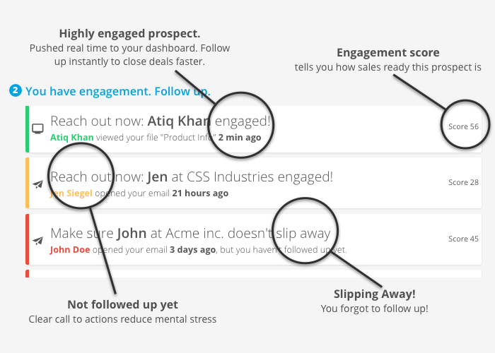 Fileboard Demo - Sales task prioritisation based on actual customer engagement