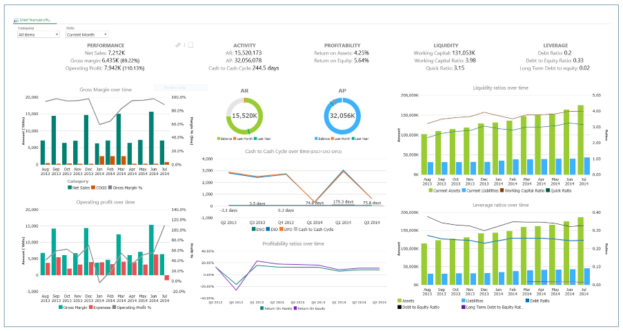 ZAP (Formerly ZAP BI) Demo - CFO Dashboard