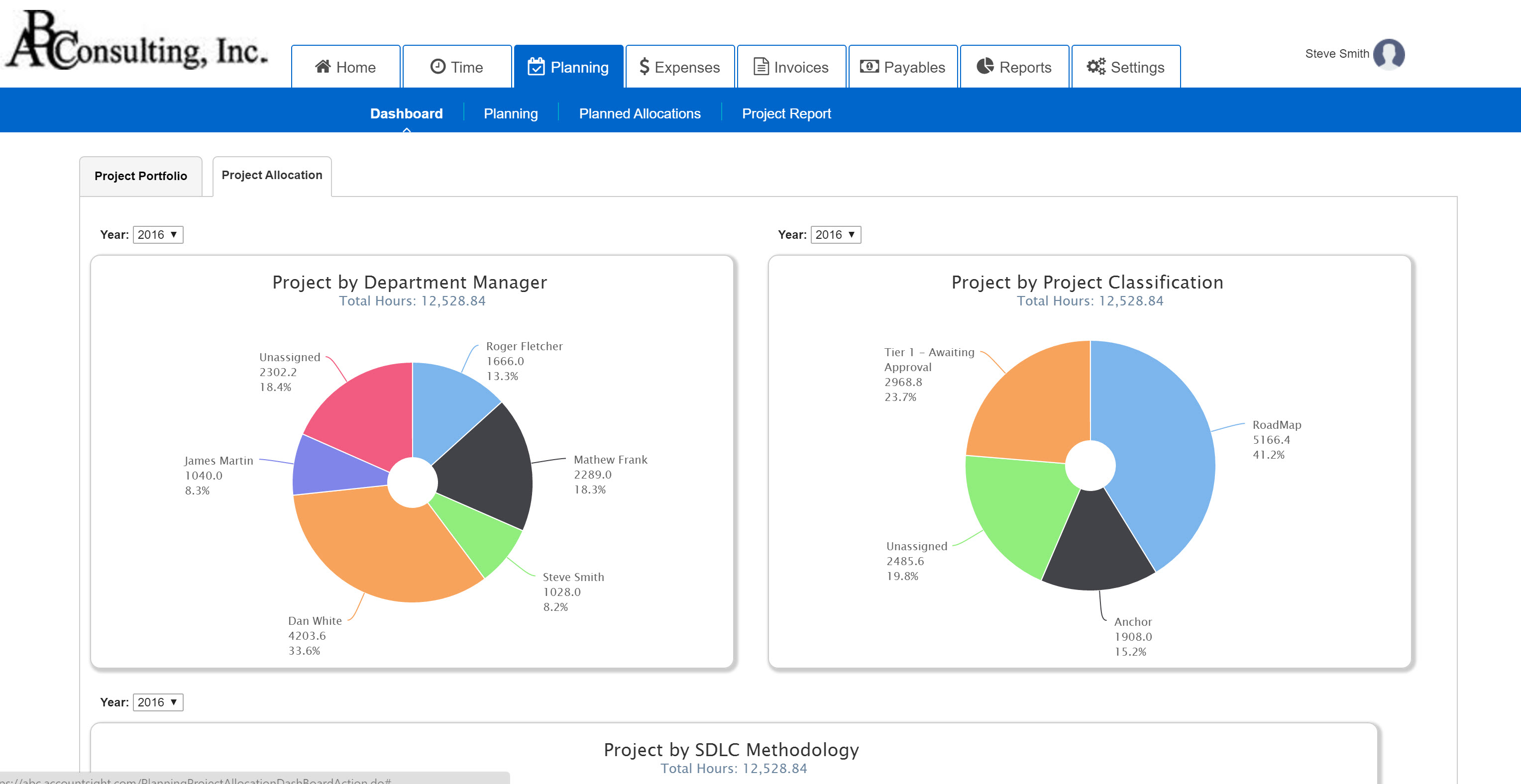 AccountSight Demo - Project Resource Forecasting Dashboards