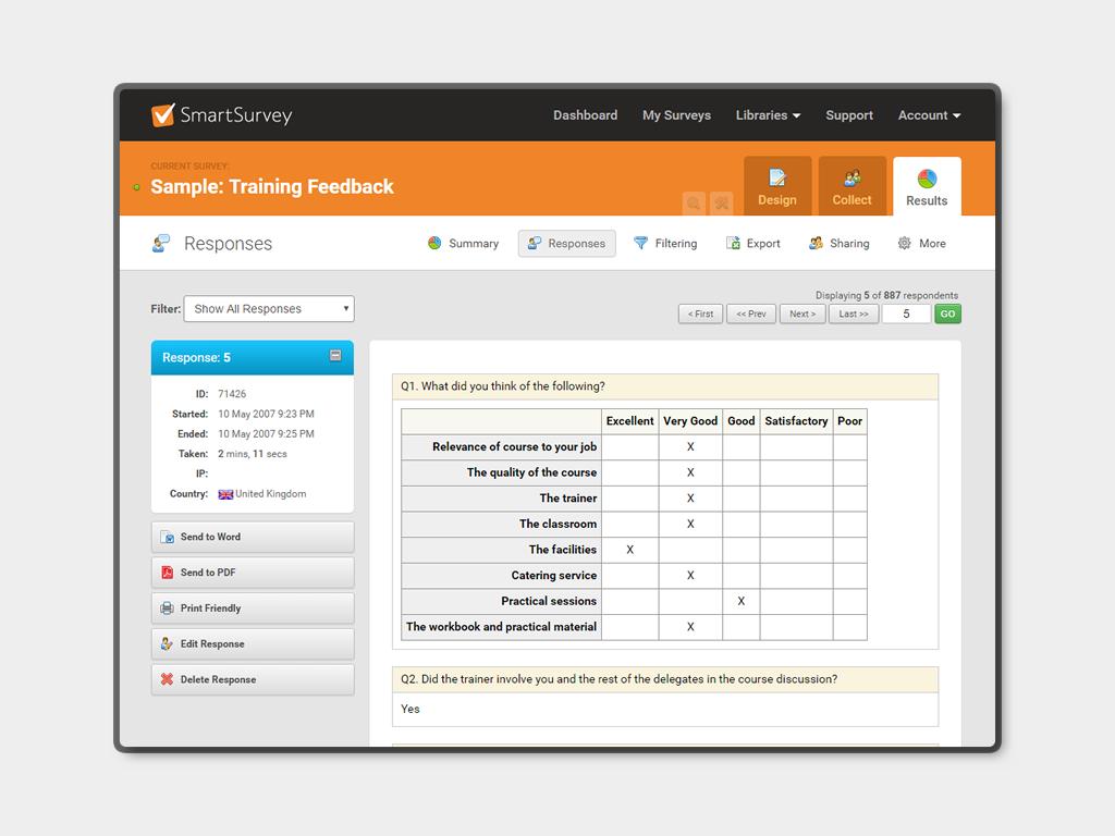 SmartSurvey Demo - SmartSurvey Results