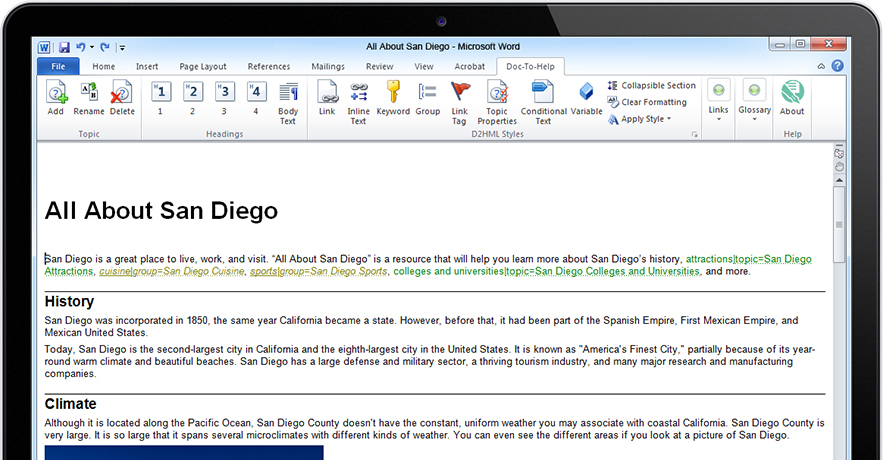 MadCap Doc-To-Help Demo - Author in a Familiar Environment Using Word and Use Existing Content