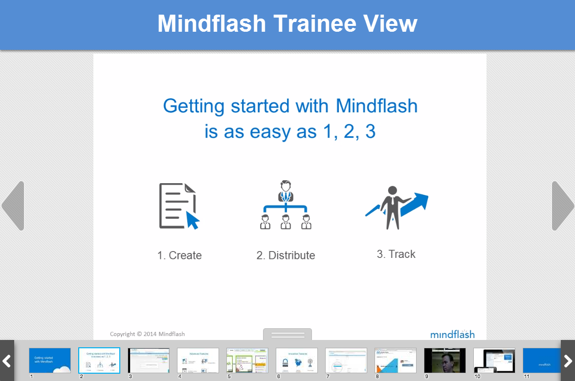 Mindflash Demo - Mindflash Trainee View