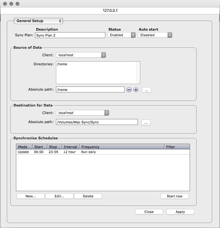 Archiware P5 Synchronize Demo - P5 Synchronize Sync Plan setup