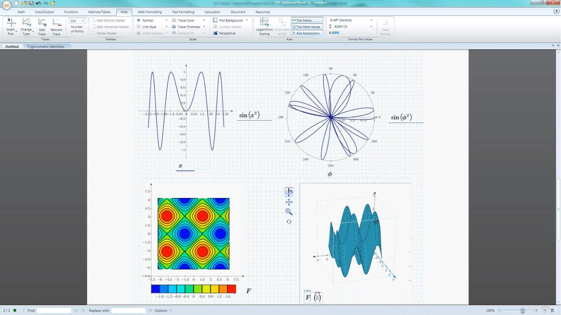 PTC Mathcad Demo - Mathcad trig examples