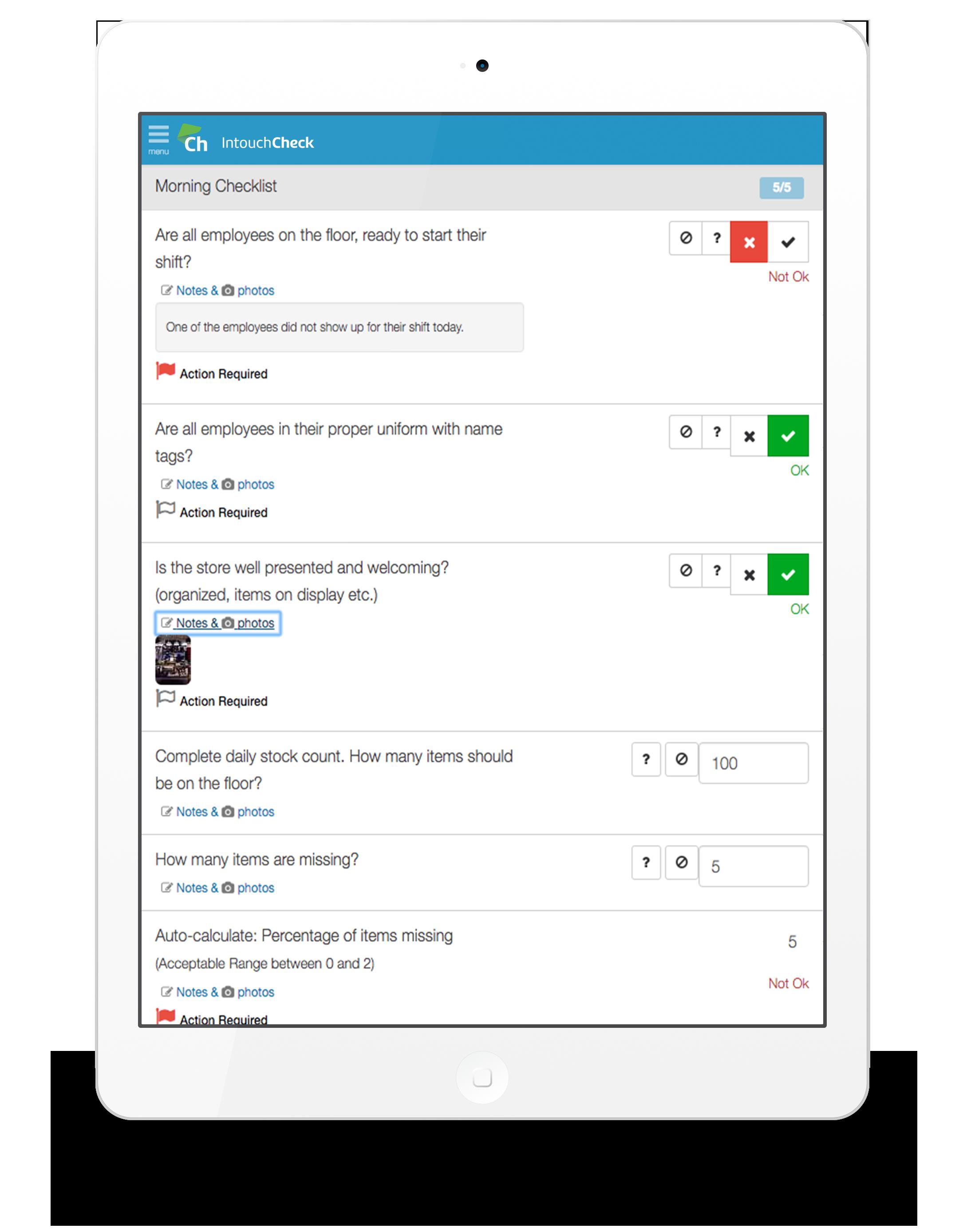 IntouchCheck Demo - IntouchCheck Mobile Form