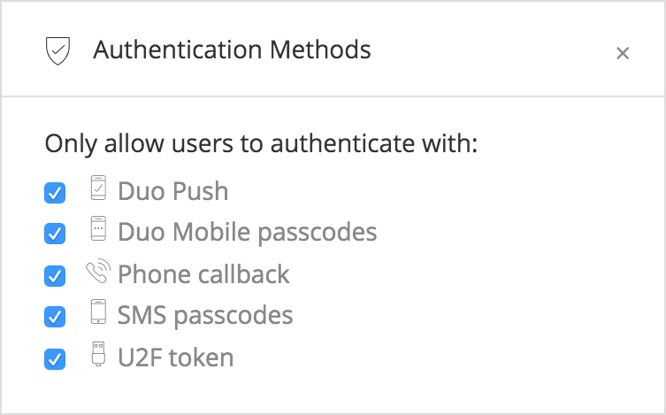 Duo Security Demo - Auth Method Policy