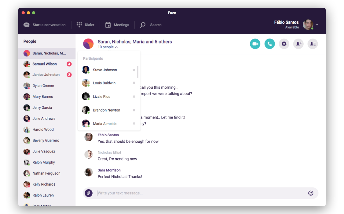 Fuze Collaboration Demo - Group Chatting