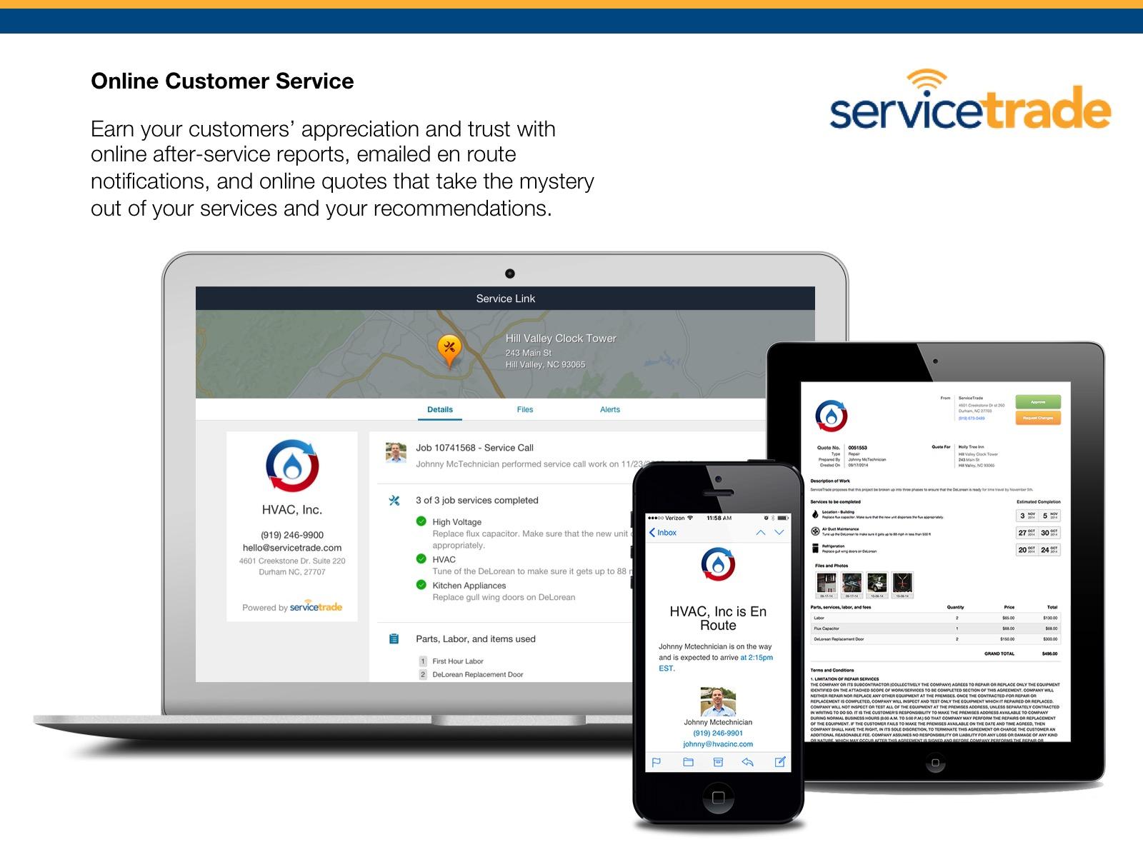 ServiceTrade Demo - Online Customer Service