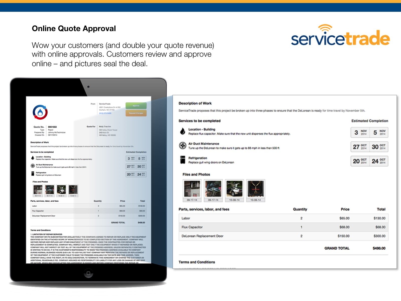 ServiceTrade Demo - Online Quote Approval