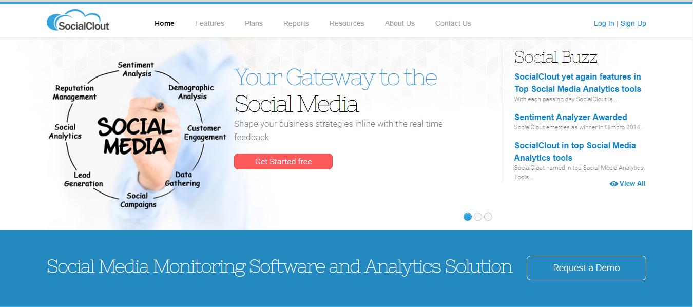 SocialClout Demo - SocialClout Home Page