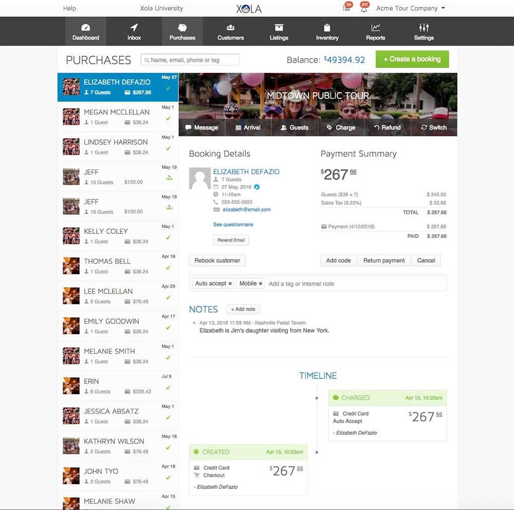 Xola Demo - Xola Booking and Customer Management