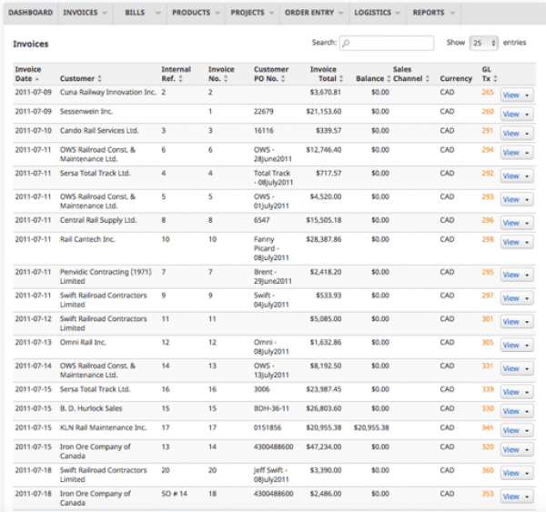 Versaccounts Small Business ERP Demo - VersAccounts Small Business Cloud ERP - Invoicing