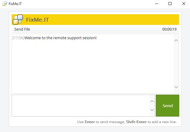 FixMe.IT Demo - FixMe.IT Client app's interface