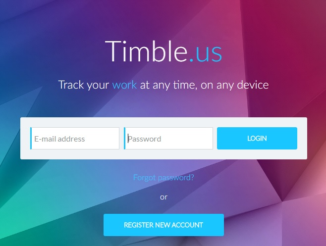 Timble Demo - Register