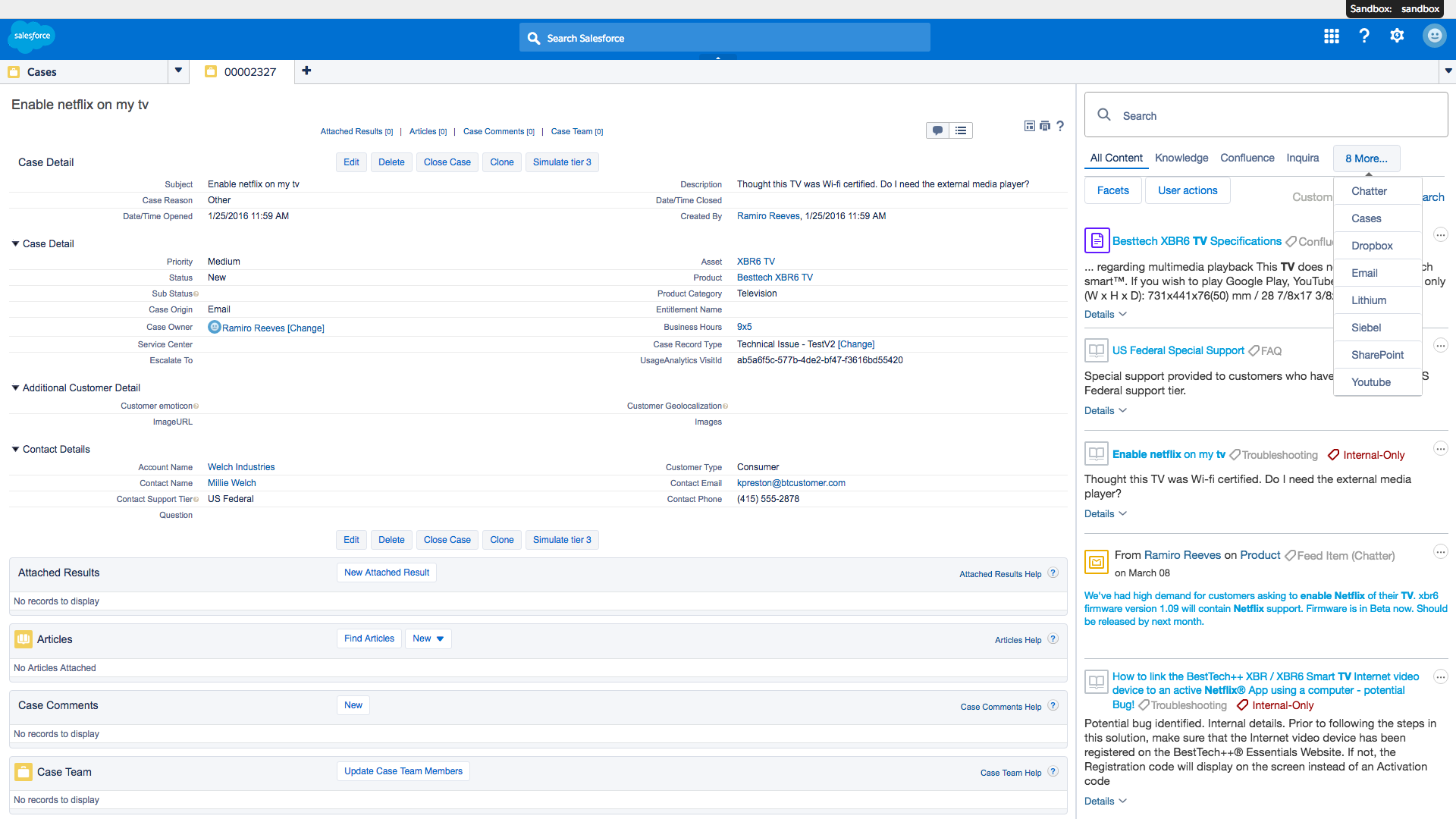 Coveo Demo - Coveo for Salesforce Agent Console