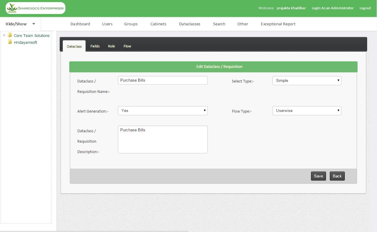 ShareDocs Enterpriser Demo - MetaData Creation
